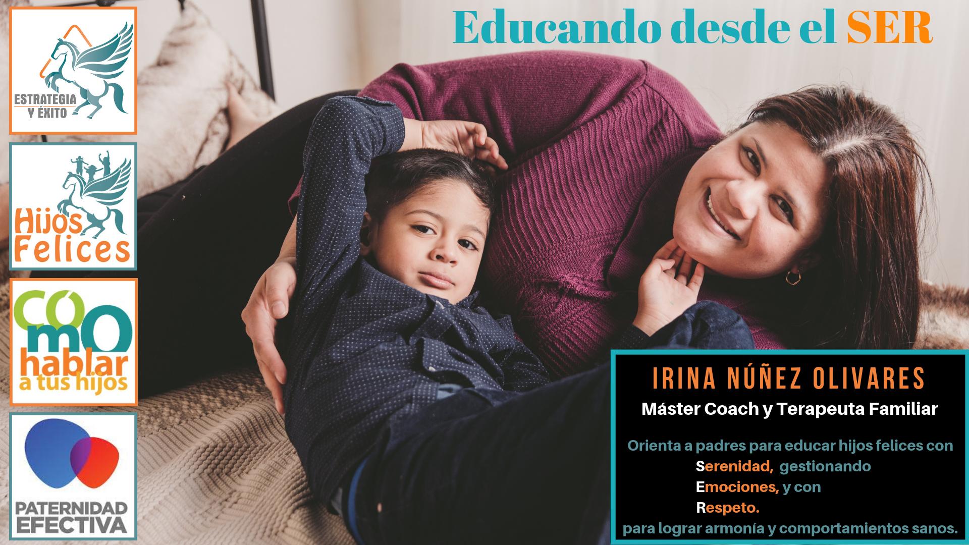Irina Nuñez - Hijos Felices - Banner títulos